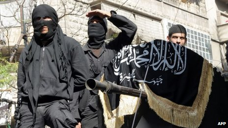 Members of the al-Nusra Front in Aleppo in October 2013
