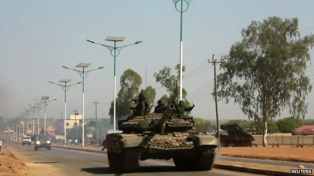 Tank in Juba