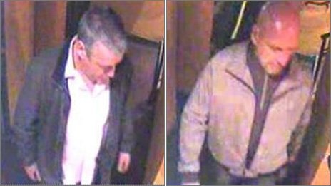 CCTV pictures of two men