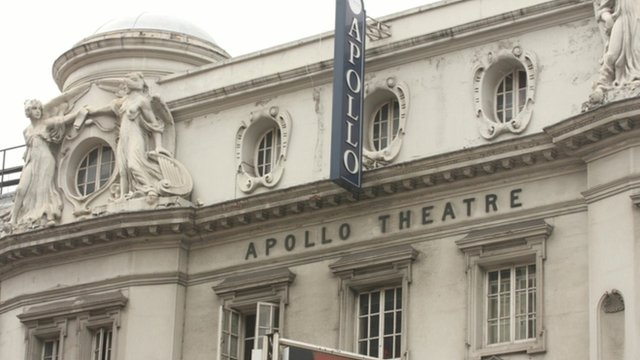 Roof collapses in packed theatre...
