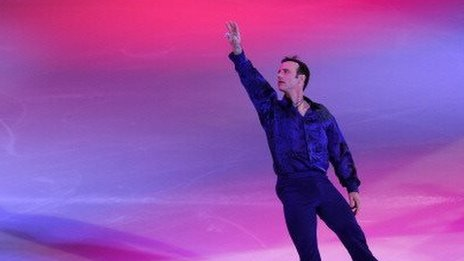 Brian Boitano skates at a show in East Rutherford, New Jersey, on December 11, 2013.