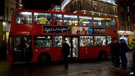Bus taking injured to hospital