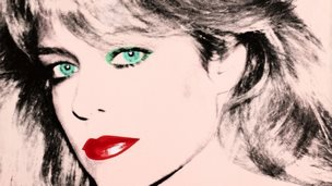 "This photo released by courtesy of the Blanton Museum of Art shows Andy Warhol""s painting of ""Farrah Fawcett,"" 1980"