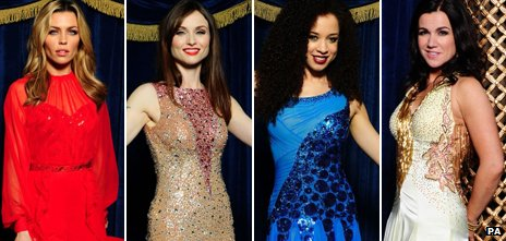 Strictly Come Dancing contestants, from left: Abbey Clancy, Sophie Ellis-Bextor, Natalie Gumede and Susanna Reid