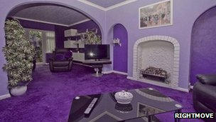 'Purple house' on Rightmove