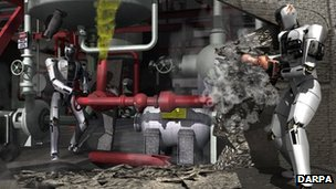 Darpa robot rescue graphic