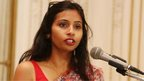 Devyani Khobragade attends a Rutgers University event at India's Consulate General in New York, June 19, 2013