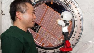 Astronaut and Kirobo robot