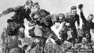 Christmas truce illustration