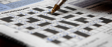 Pen and crossword
