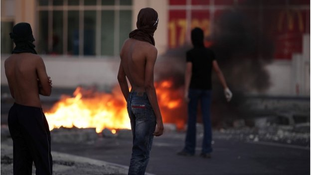 Anti-government demonstrators in Bahrain (file photo)