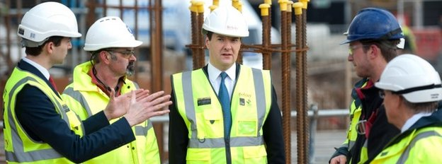 George Osborne visits construction site