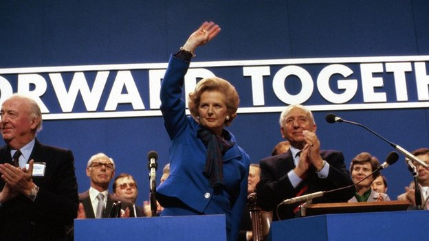 Lady Thatcher at 1983 Tory conference