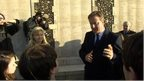 David Cameron and School Reporters from Richard Lander School at a World War One battlefield in Belgium