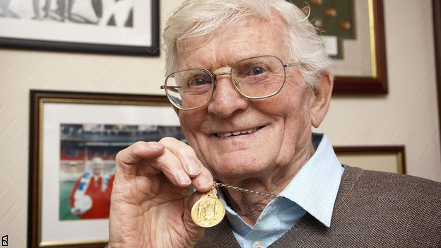 Cyril Robinson with his 1953 FA Cup final medal