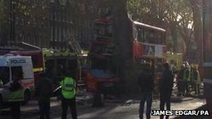 Kennington Road bus crash