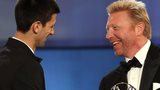 Novak Djokovic and Boris Becker at the 2012 Laureus World Sportsman of the Year awards