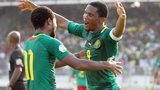Cameroon's Jean Makoun and Samuel Eto'o