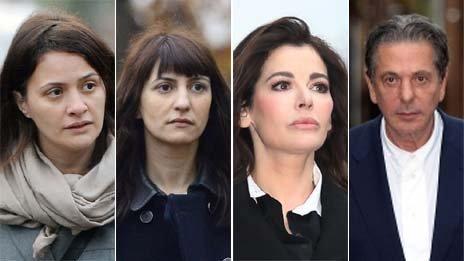 Elisabetta Grillo, Francesca Grillo, Nigella Lawson and Charles Saatchi