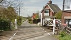 Level crossing across West Bank in Saxilby
