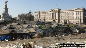 Buckingham Palace slum