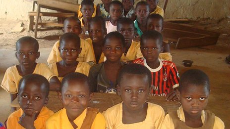 Pupils at Karbo Primary School in Ghana