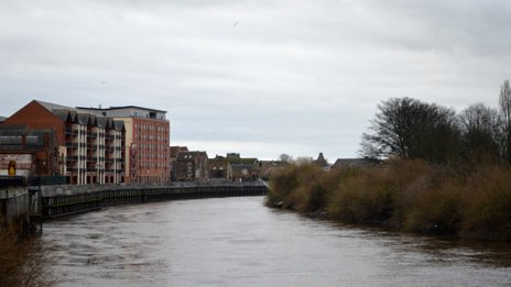 River Trent in Gainsborough
