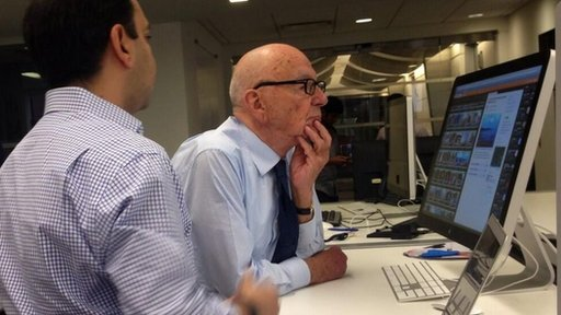 Rupert Murdoch being shown Storyful