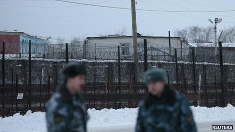 Penal Colony 7, where Mikhail Khodorkovsky was held at the village of Segezha, near the Finnish border, Dec 2013