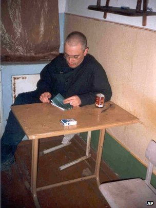 Mikhail Khodorkovsky in his Siberian prison camp, November 2005