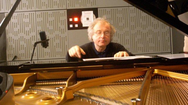Andras Schiff in BBC studio