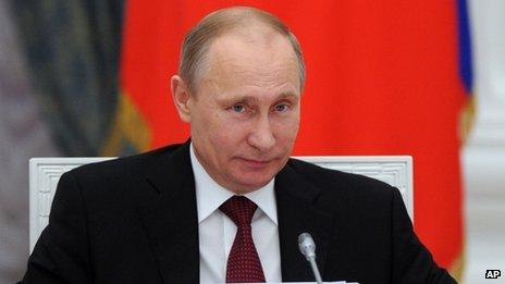 Russian President Vladimir Putin. Photo: 20 December 2013