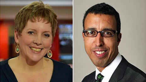 Carrie Gracie and Kamal Ahmed