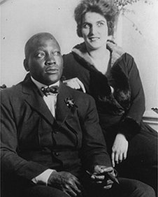 Johnson with his wife Lucille Cameron in 1924