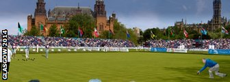 An artist's impression of the lawn bowls competition in Glasgow next year