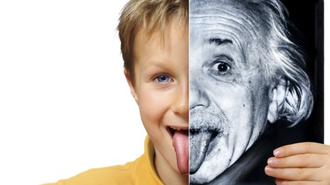 Child and Einstein