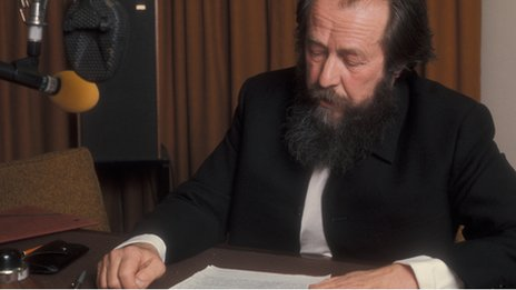 File photo of Alexander Solzhenitsyn