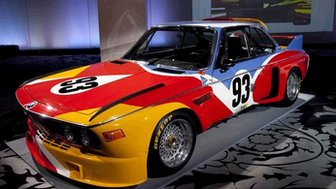 "BMW's Alexander Calder-painted ""Batmobile"" CSL."