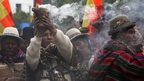 Bolivian indigenous rituals ahead of satellite launch