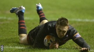 Dougie Fife scored Edinburgh's try