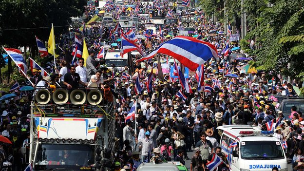 Anti-government rally in Bangkok, Thailand, on 20 December 2013