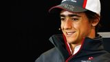 Esteban Gutierrez of Mexico and Sauber F1 attends the drivers press conference during previews to the United States Formula One Grand Prix at Circuit of The Americas.