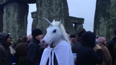 Winter solstice Stonehenge 2013