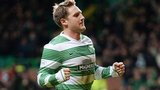 Kris Commons celebrates after scoring for Celtic against Hearts