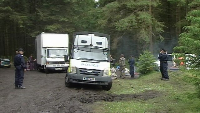 Police at rave site