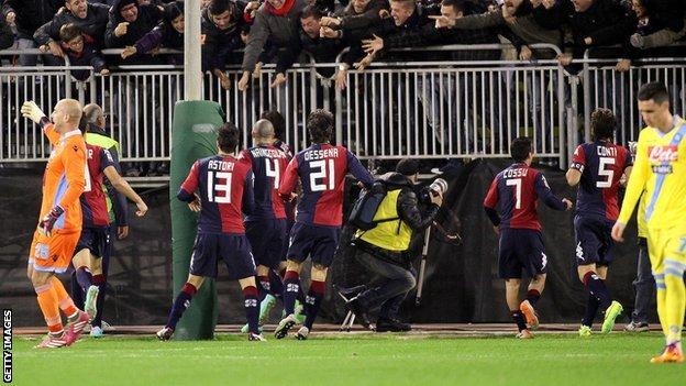 Cagliari score