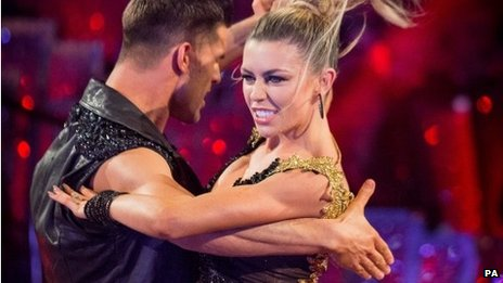 Aljaz Skorjanec and Abbey Clancy dancing