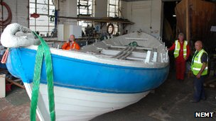 Restoration work on the Tyne Lifeboat