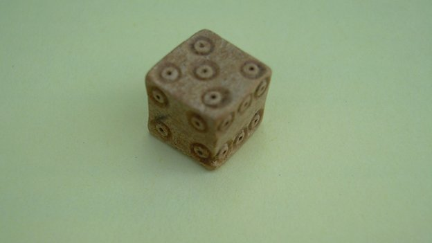 Bone dice were found on the site