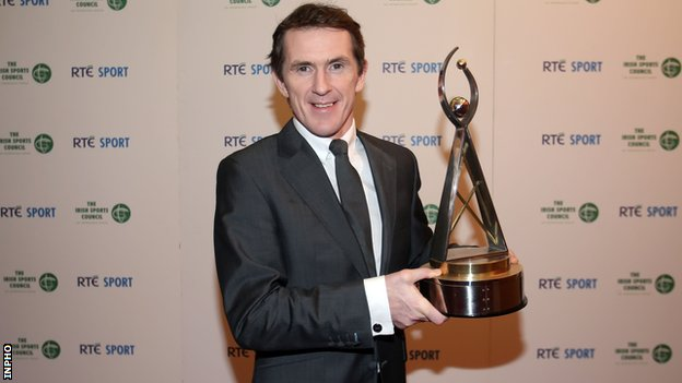 Tony McCoy after winning the 2013 RTE Sports award